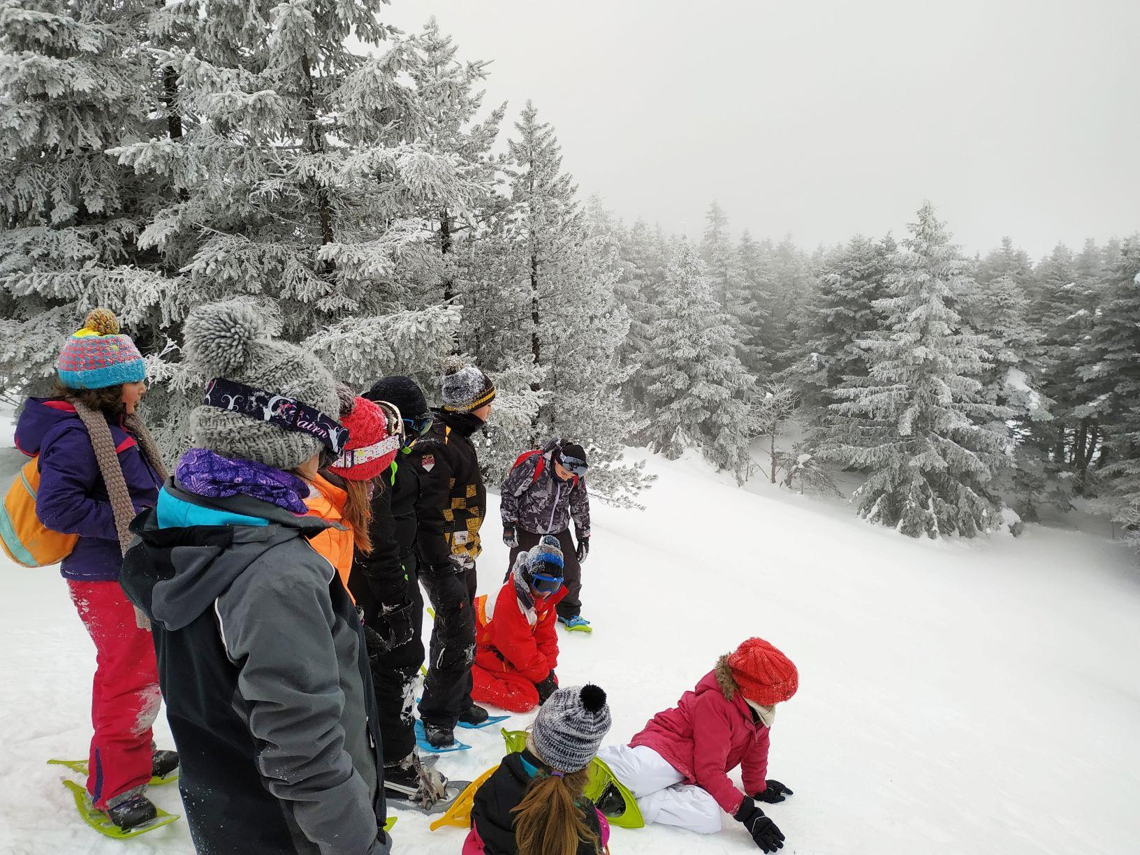 Classe neige ecole lantriac