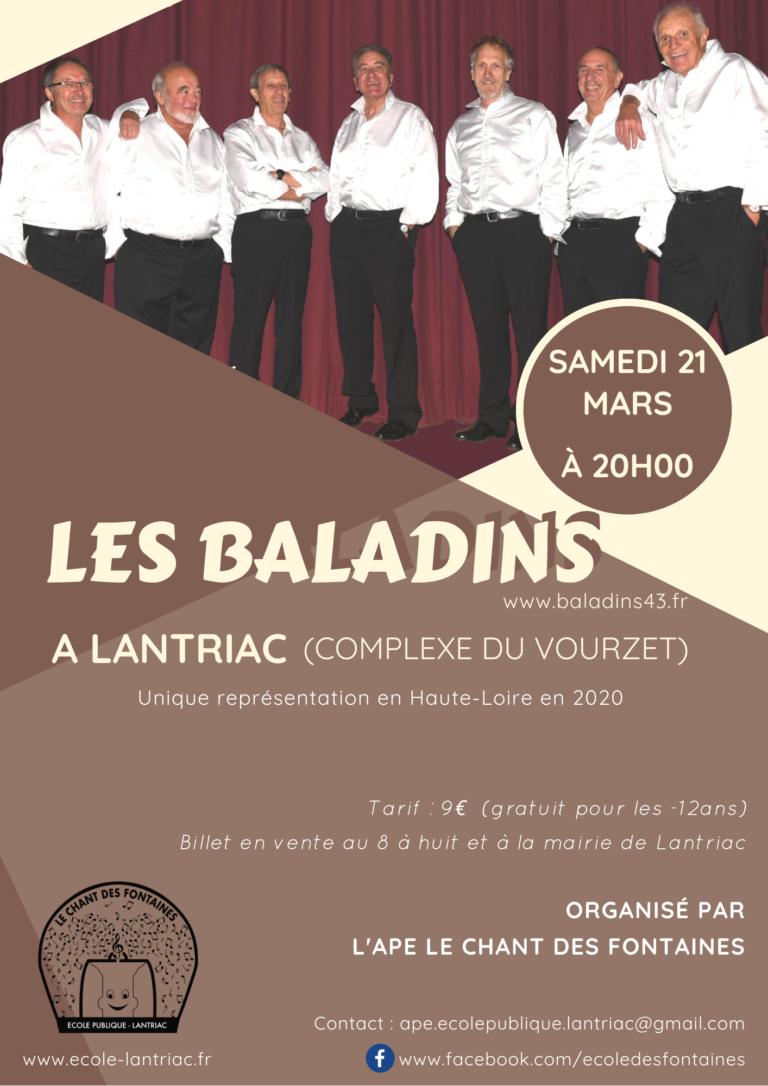 Affiche Concert Les Baladins
